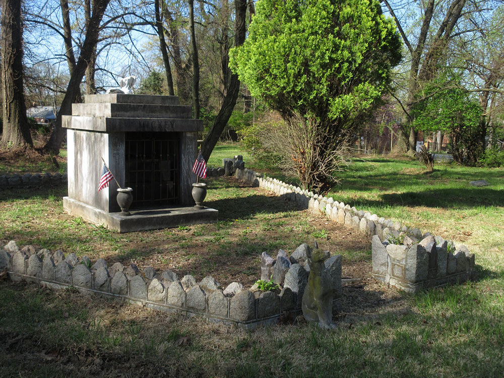 Grave site of George and Gertrude Young, located in front of Mickey's mausoleum.