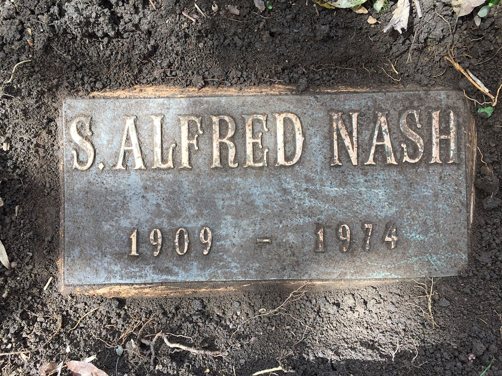 S. Alfred Nash, Aspin Hill Memorial Park.