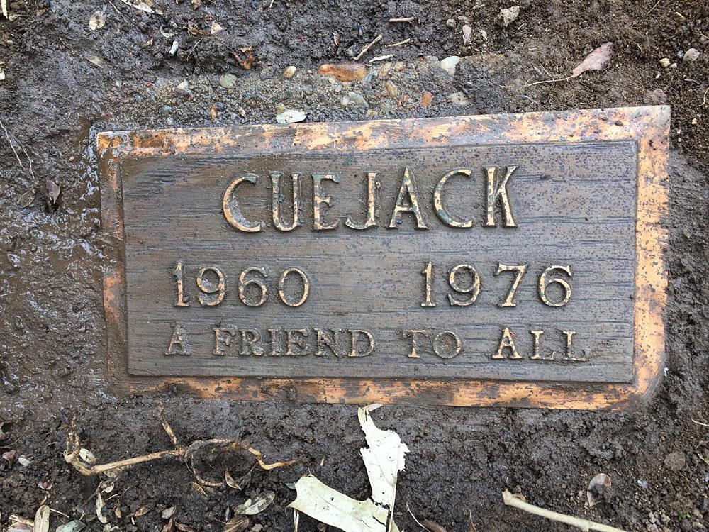 Cuejack, Aspin Hill Memorial Park.