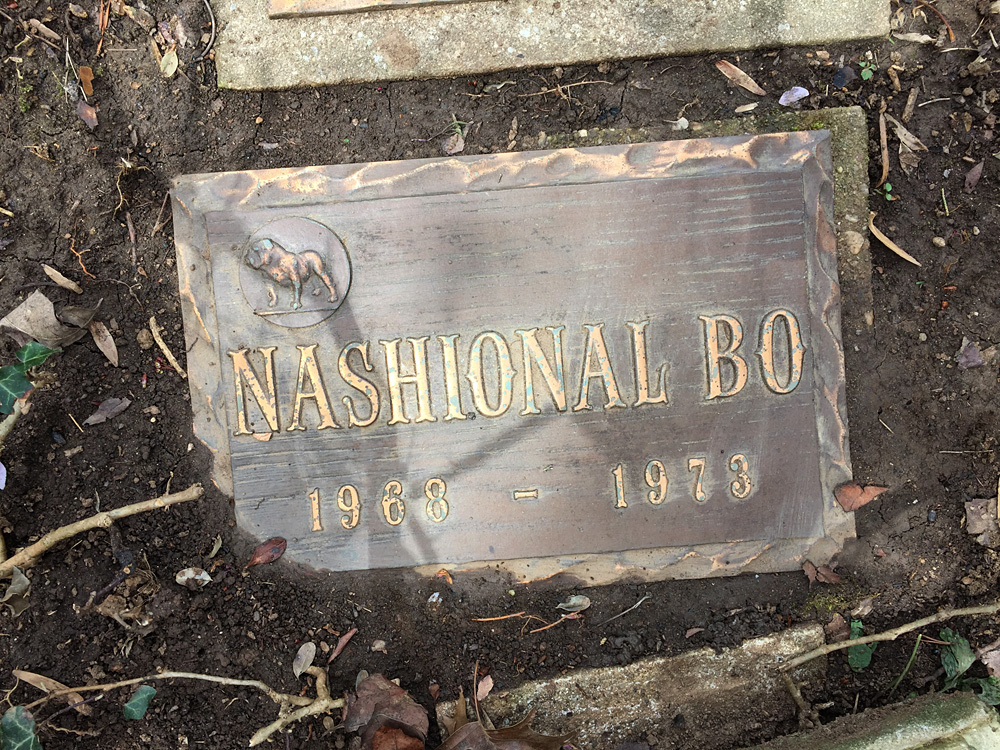 Nashional Bo, Aspin Hill Memorial Park.