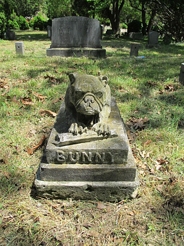 Bunny (May 2013) dog statues