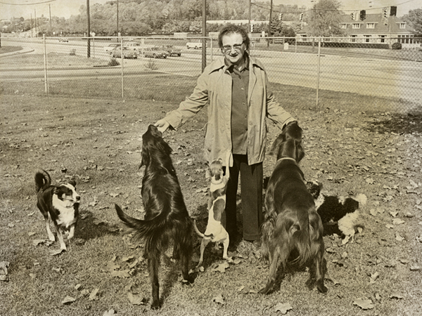 Mrs. Nash with her dogs. October 24, 1977. Evening Star staff photographer Willard Volz. Reprinted with permission of the DC Public Library, Star Collection © Washington Post