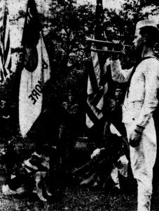Bugler salutes Rickey during his funeral at Aspin Hill Pet Cemetery. Evening Star, June 6, 1948