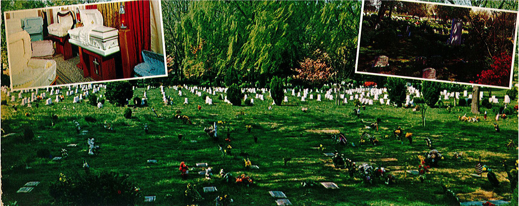 Aspin Hill Pet Cemetery postcard, ca. 1970. Digital image courtesy of the Montgomery County Humane Society