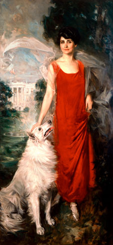 """Grace Goodhue Coolidge."" Howard Chandler Christy, 1924. White House Collection/White House Historical Association."