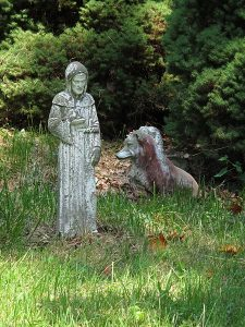 St. Francis of Assisi statue, Aspin Hill Memorial Park. June 2012.